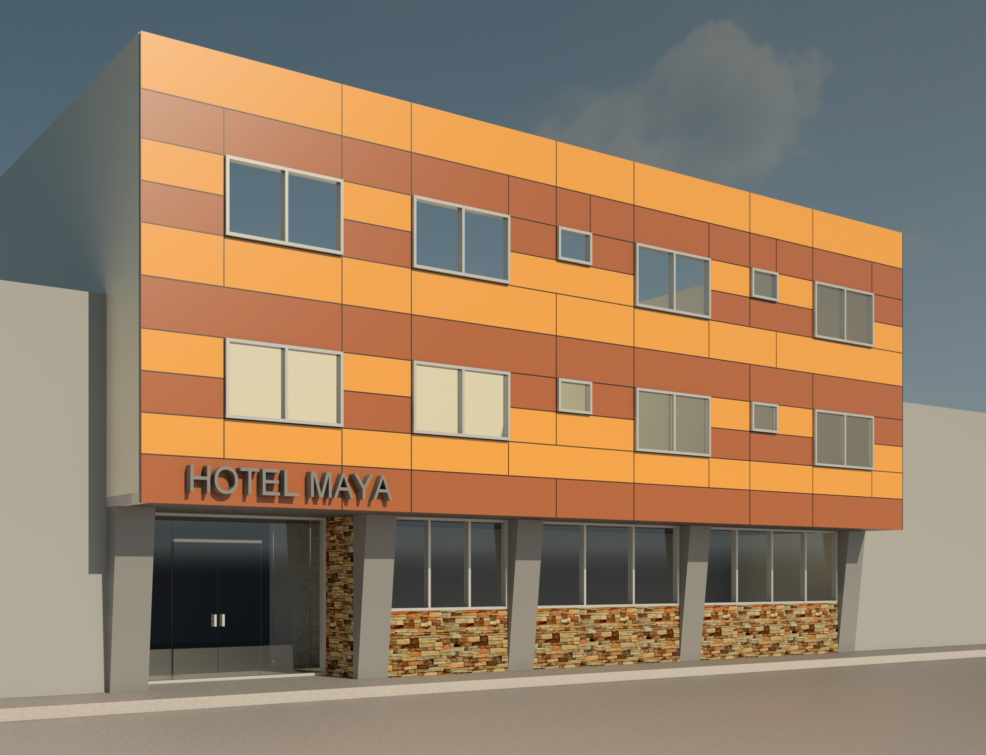 Hotel Con Fachada De Alucobond Autodesk Online Gallery